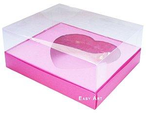Caixa Coração de Colher / 500g - Pink - Pct com 10 Unidades
