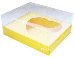 Caixa Coração de Colher / 500g - Amarelo - Pct com 10 Unidades