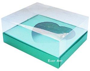 Caixa Coração de Colher / 500g - Verde Bandeira - Pct com 10 Unidades
