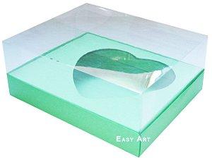 Caixa Coração de Colher / 500g - Verde Pistache - Pct com 10 Unidades