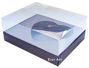 Caixa Coração de Colher / 500g - Marrom Chocolate - Pct com 10 Unidades