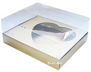 Caixa Coração de Colher / 500g - Dourado Brilhante - Pct com 10 Unidades