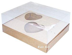 Caixa Coração de Colher / 2x de 100g - Kraft - Pct com 10 Unidades