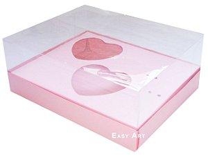 Caixa Coração de Colher 2x de 100g - Salmão - Pct com 10 Unidades
