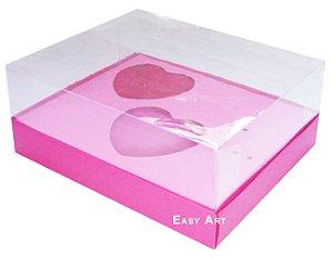 Caixa Coração de Colher 2x de 100g - Pink - Pct com 10 Unidades