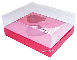 Caixa Coração de Colher 2x de 100g - Vermelho - Pct com 10 Unidades