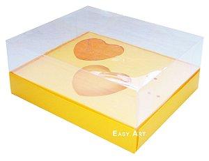 Caixa Coração de Colher / 2x de 100g - Laranja Claro - Pct com 10 Unidades