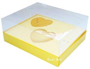 Caixa Coração de Colher / 2x de 100g - Amarelo - Pct com 10 Unidades