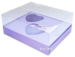 Caixa Coração de Colher - Lilás - Pct com 10 Unidades