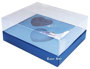 Caixa Coração de Colher / 2x 100g - Azul Marinho - Pct com 10 Unidades