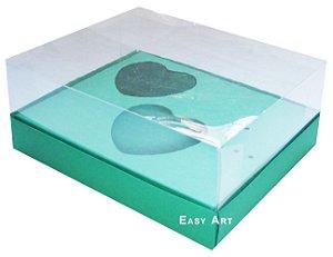Caixa Coração de Colher 2x de 100g - Verde Bandeira - Pct com 10 unidades