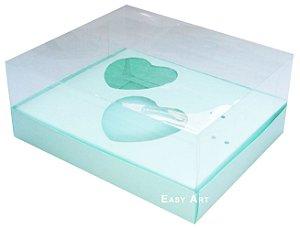 Caixa Coração de Colher 2x de 100g - Verde Claro - Pct com 10 Unidades