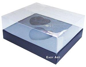 Caixa Coração de Colher 2x de 100g - Preto - Pct com 10 Unidades
