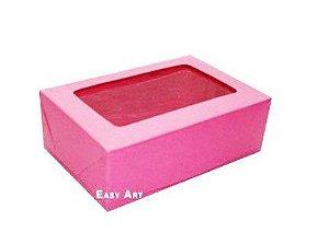 Caixa para 12 Brigadeiros 16x12x3,7 - Pink