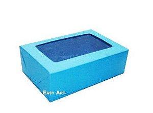 Caixa para 12 Brigadeiros - Azul Turquesa