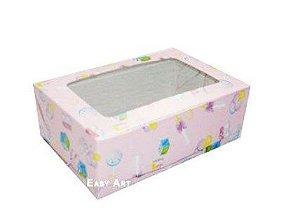 Caixa para 12 Brigadeiros - Estampado Bebê Menina