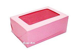 Caixas para 3 Brigadeiros - Rosa Claro