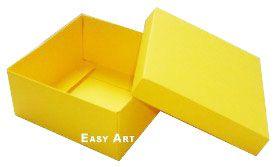 Caixa Tiffany Grande - Amarelo