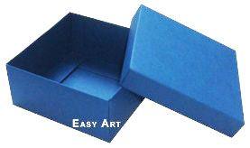 Caixa Tiffany Grande - Azul Marinho