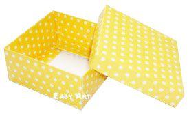 Caixa Tiffany Grande - Amarelo com Poás Brancas