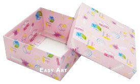 Caixa Tiffany Grande - Estampado Bebê Rosa