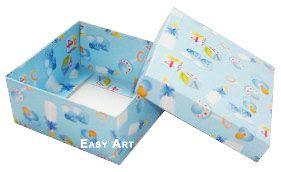 Caixa Tiffany Grande - Estampado Bebê Azul