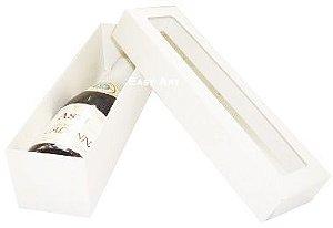 Caixa para Mini Vinho Com Visor - Branco