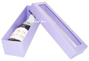 Caixa para Mini Vinho Com Visor - Lilás