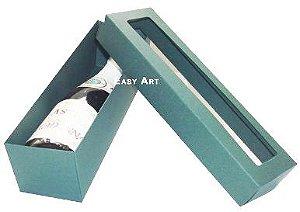 Caixa para Mini Vinho Com Visor - Verde Musgo