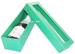 Caixa para Mini Vinho Com Visor - Verde Bandeira