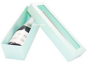 Caixa para Mini Vinho Com Visor - Verde Claro