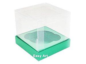 Caixas para Cupcakes - Verde Bandeira