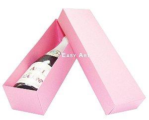 Caixa para Mini Vinho Sem Visor - Rosa Claro