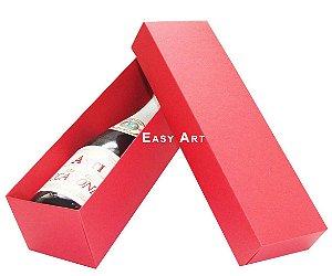 Caixa para Mini Vinho Sem Visor - Vermelho
