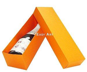 Caixa para Mini Vinho Sem Visor - Laranja