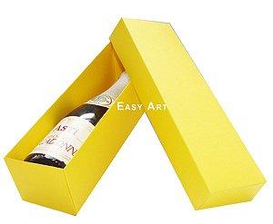 Caixa para Mini Vinho Sem Visor - Amarelo
