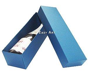 Caixa para Mini Vinho Sem Visor - Azul Marinho