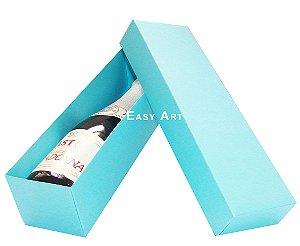 Caixa para Mini Vinho Sem Visor - Azul Tiffany