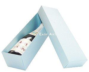 Caixa para Mini Vinho Sem Visor - Azul Claro