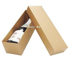 Caixa para Mini Vinho Sem Visor - Marrom Claro