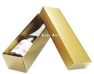 Caixa para Mini Vinho Sem Visor - Dourado Brilhante