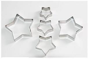 Cortadores Inox - Estrelas 5 Peças - 5P