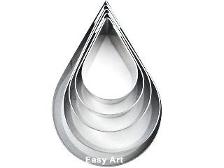 Cortadores Inox - Gotas 5 Peças - 5P