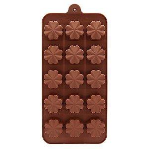 Formas de Silicone para Bombons  Flor  - 20,5x10,5x1,5