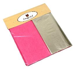 Kit para Bem Casados Rosa Escuro - Cores lisas Crepom / Celofane - 18x18