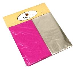Kit para Bem Casados Pink - Cores lisas Crepom / Celofane - 18x18