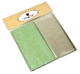 Kit para Bem Casados Verde com Branco - Crepom / Celofane - Listrados - 18x18