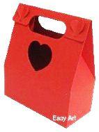 Caixa Maleta Coração - Vermelho