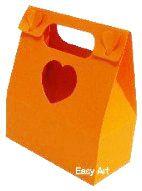 Caixa Maleta Coração - Laranja