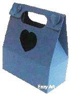 Caixa Maleta Coração - Azul Marinho